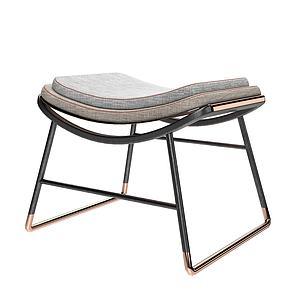 现代凳榻模型