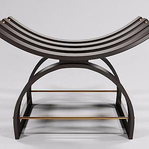 实木创意凳榻模型