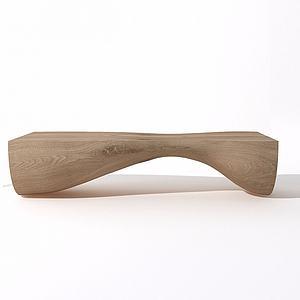 实木凳榻模型