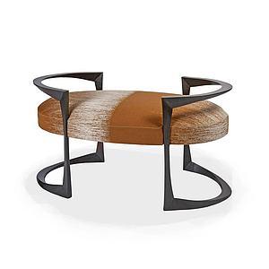 创意实木凳榻模型