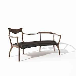 凳榻靠背椅模型