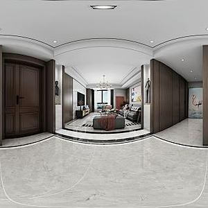 中式客厅餐厅壁柜模型3d模型