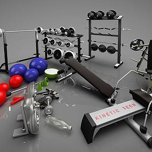 现代健身器材模型