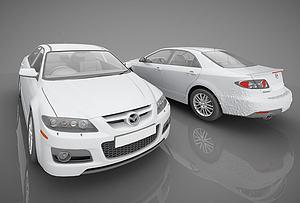 现代风格小汽车模型3d模型