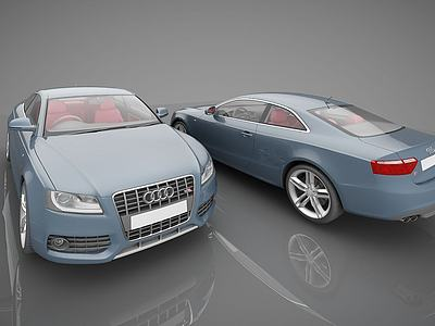 C4D現代奧迪小汽車模型