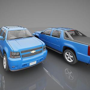 现代雪佛莱小汽车模型