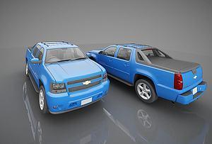 现代雪佛莱小汽车模型3d模型
