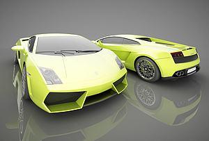 现代跑车模型3d模型