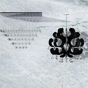 3d現代創意<font class='myIsRed'>水晶吊燈</font>模型