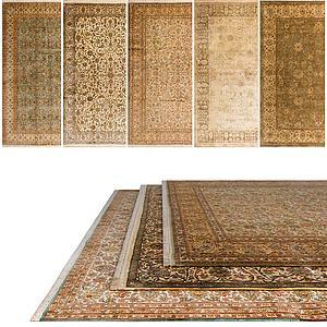 中式地毯组合3d模型
