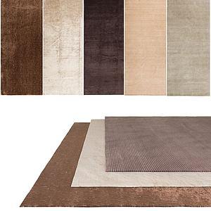 纯色地毯组合模型