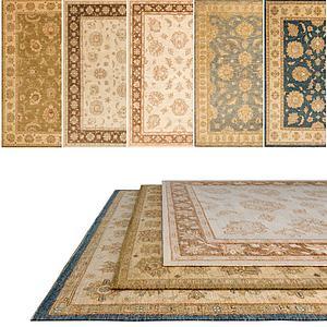复古花纹图案地毯模型