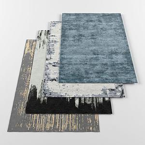 素色地毯组合3d模型