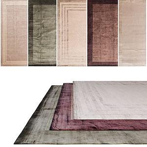 中式纯色地毯模型