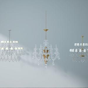 水晶吊灯模型