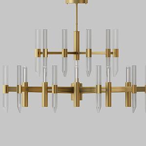 创意金属吊灯模型