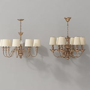 古典金属吊灯模型