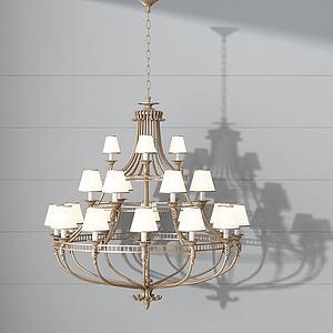 多层金属吊灯模型