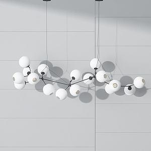 金属创意吊灯模型
