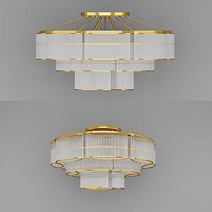 3d多層<font class='myIsRed'>水晶吊燈</font>模型
