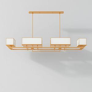 新中式创意吊灯模型