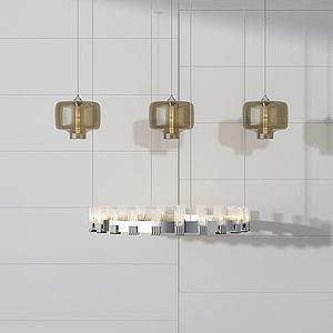 创意吊灯组合模型