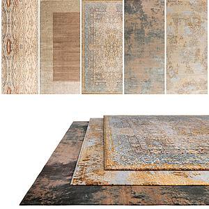 中式花色地毯模型