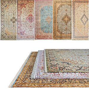 现代花式地毯组合模型