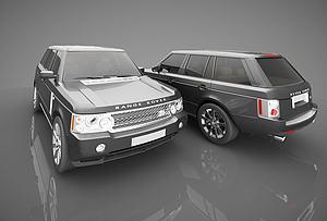 3d现代风格小汽<font class='myIsRed'>车</font>模型