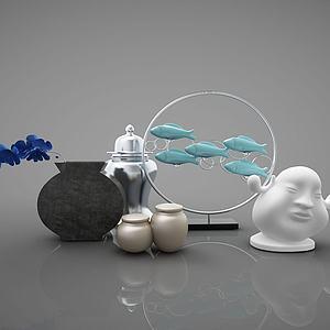 新中式风格摆件模型3d模型