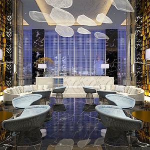 现代创意餐厅模型