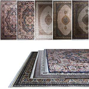 中式复古花式地毯模型