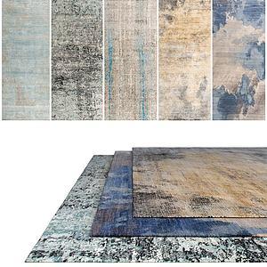 现代花式地毯模型