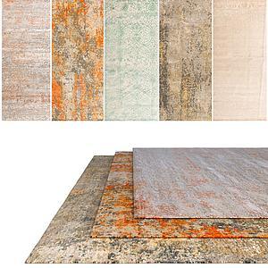 现代中式地毯模型