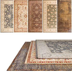 美式地毯组合3d模型