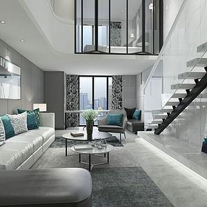 现代时尚公寓模型
