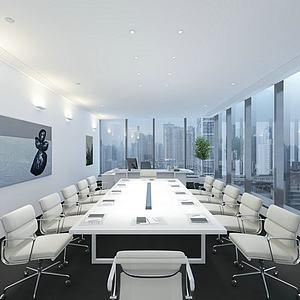 现代会议室办公室模型