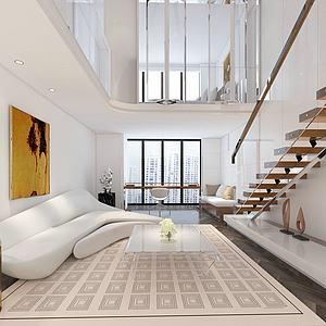 现代简约公寓模型