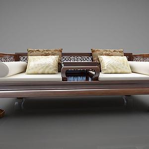 中式风格罗汉床模型