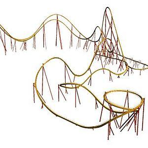 游乐园过山车游乐设备模型