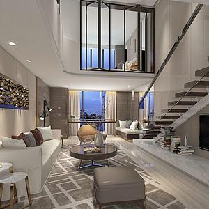 现代时尚公寓3d模型