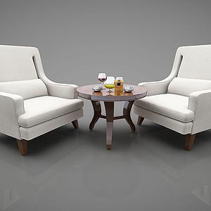 现代沙发组合模型