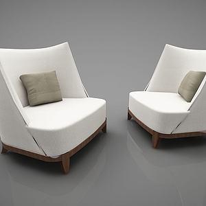现代风格单人沙发模型