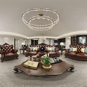 美式客餐厅模型3d模型