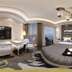 欧式风格卧室模型