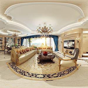 新古典餐客厅模型