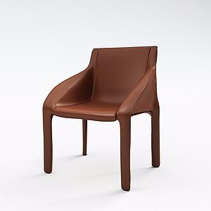 3d<font class='myIsRed'>皮质沙发</font>椅模型