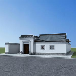 中式四合院模型3d模型