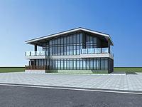 新中式商业大楼3d模型