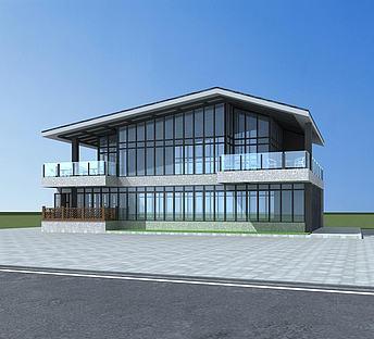 新中式商业大楼